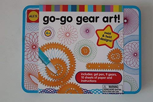 NEW UNOPENED Alex Go Go Gear Art Travel Tin Set Swirl Art W/ 9 Gears and Pen [並行輸入品] B07SFT3C7G