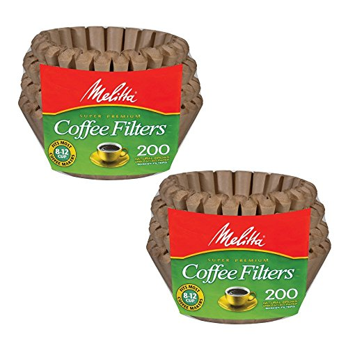 Melitta 62957 8 To 12 Cup Natural Brown Basket Coffee Filters 200 Count  (Pack of 2) (Coffe Basket)