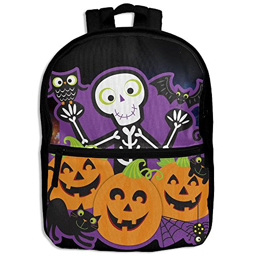 Halloween Party Hot Sale Child Shoulder School Bag School Backpack Satchel For Teens Boys Girls Students Black (Table Topic Ideas For Halloween)