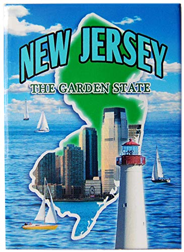 State of New Jersey Souvenir Photo Printed Refrigerator Magnet (Fridge New Jersey Magnet)