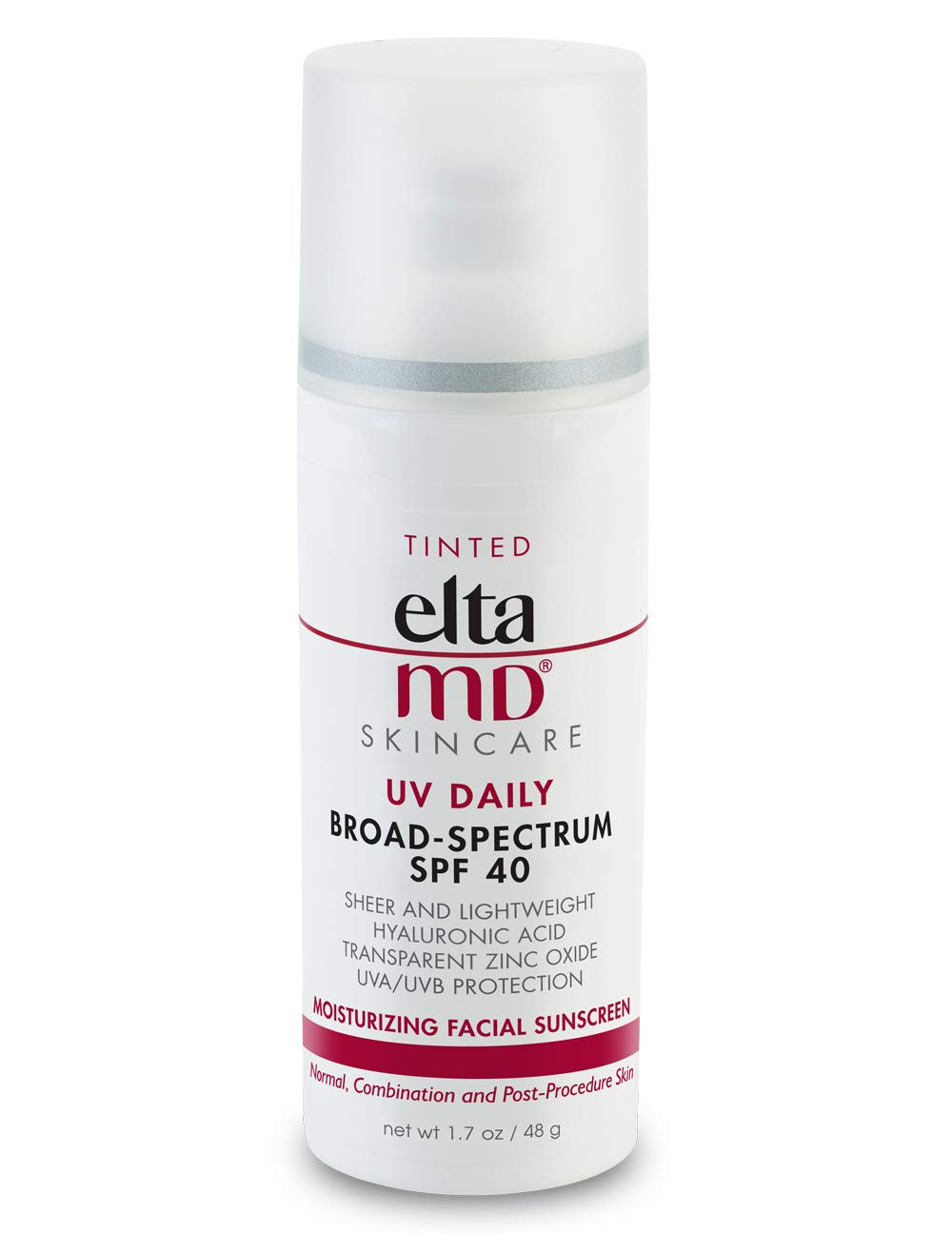 EltaMD UV Daily Tinted Facial Sunscreen Broad-Spectrum SPF 40 for Dry Skin, Dermatologist-Recommended Mineral-Based Zinc Oxide Formula, 1. 7 oz by ELTA MD