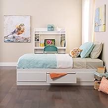 Prepac WBT-4100 Monterey Twin/Mates Platform Storage Bed, 3-drawers (White)
