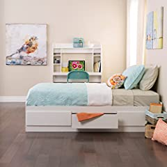 This stylish Mate's Bed has three spacious drawers that are ideal for storing toys, books, games, and even clothes. Drawers roll on metal roller hardware for a smooth operation. The bed can be positioned with left or right facing drawers to s...