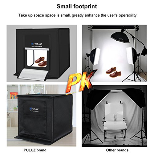 Lightbox 24 Inches,Brightness Adjustable Table Top Photo Photography Studio, Light Tent Softbox with 3 Backgrounds(White, Orange, Black), Photo Booth(No Strobe) by TSLEEN (Image #4)