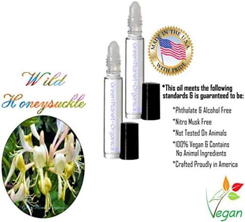 Set of 2x .33oz Bottles: Wild Honeysuckle Perfume Oil .33oz (Lonicera periclymenum) A Phthalate Free Oil!