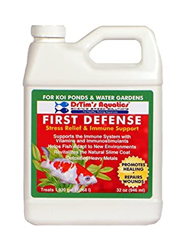 DrTim's Aquatics First Defense Stress Relief & Immune Support for Koi Ponds & Water Gardens, 32 oz - 624 Systems