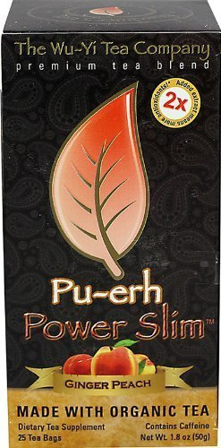 The Wu Yi Tea Company Tea, Gngr Peach Power Slim, 25-Count