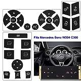 8 pcs, Black TTCR-II Steering Wheel Switch Control Buttons For Mercedes Benz W164 ML320 ML350 ML400 ML430 ML500 ML550 ML63 2006//2007//2008 X164 GL320 GL350 GL450 GL550 GL63 2007//2008
