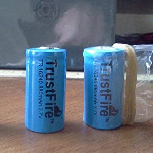 Trustfire 16340 CR123A 3.7v Lithium Battery