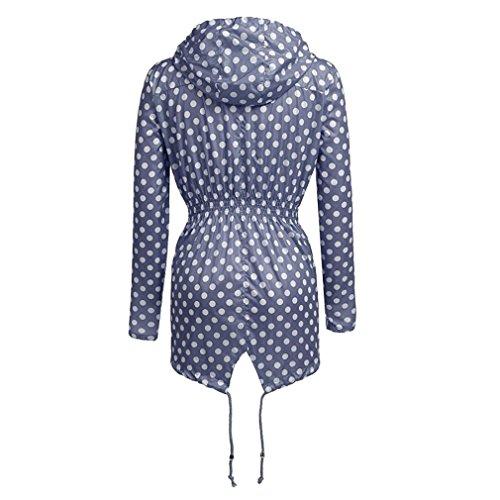 Impermeabile Leggera Da Blue Antipioggia Weimeite Active Giacca Donna Versatile Cappotto dot Outdoor OxFwdnqT