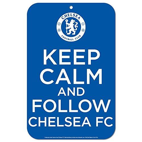 WinCraft English Premiership Chelsea FC Plastic Signs, 11 x 17-Inch, Multi