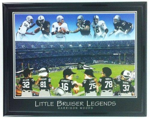 NFL Football Oakland Raiders Allen Brown Plunkett Long Shell Hayes Frame Wall Art F7514A