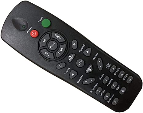 Easy Replacement Remote Control Fit for OPTOMA PRO260X EP721 EP7155I Projector