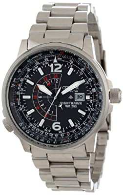 "Citizen Men's BJ7000-52E ""Nighthawk"" Stainless Steel Eco-Drive Watch from Citizen"