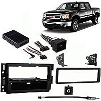 Fits GMC Sierra w/OE NAV 2012-2013 Single DIN Harness Radio Install Dash Kit