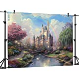 Ouyida Fairy tale castle 7 x 5 CP Pictorial cloth photography Background Computer-Printed Vinyl Backdrop TP50
