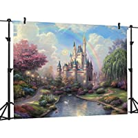 Ouyida Fairy tale castle 9 x 6 Seamless CP Pictorial cloth photography Background Computer-Printed Vinyl Backdrop TP50C