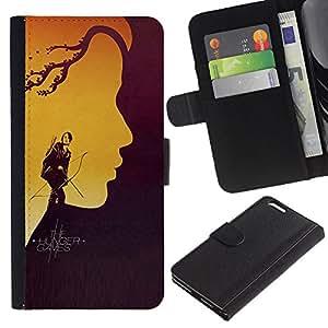 """A-type (Hung3r Juegos"""") Colorida Impresión Funda Cuero Monedero Caja Bolsa Cubierta Caja Piel Card Slots Para Apple (5.5 inches!!!) iPhone 6+ Plus / 6S+ Plus"""