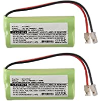 2PC Exell Cordless Phone Battery for 2 AAA with Universal Adapters FAST USA SHIP