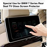 BMW 7 Series / 2017 BMW X5 X6 / 2018 BMW 5 Series Rear Seat TV Screen Protector 2 Pack Tempered Glass Back Seat Entertainment Screen Protector Anti Scratch High Clarity