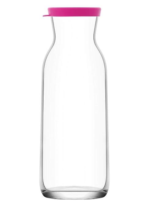 Amazon.com: Jarra de cristal con tapa de plástico, jarra de ...