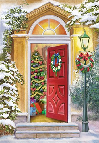(Open Door and Lamp Post - Designer Greetings Box of 30 Christmas)