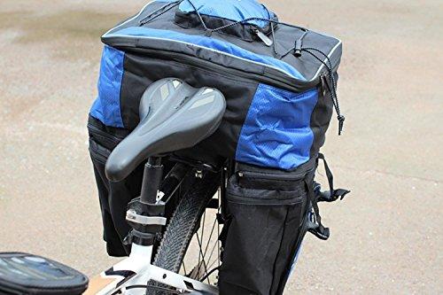 Fahrrad-Doppelnier-Tasche wasserdichtes 40L 600D Nylon mit der reflektierenden Streifen-Regen-Abdeckung verdickt SXX7dHtyI