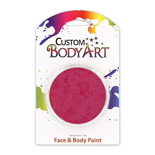 Custom Body Art LARGE 18ml Face Paint Color Single Colors 1-each (Magenta) - Great for Parties, Halloween & Birthdays