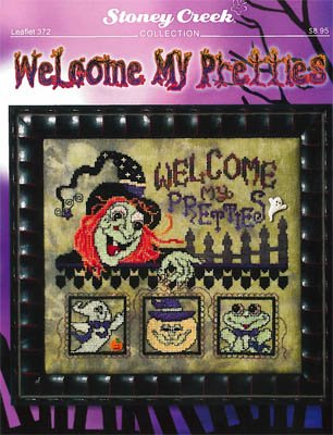 Welcome My Pretties Cross Stitch Chart and Free Embellishment