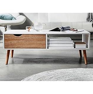 L. Living Wohnzimmer-Tisch Skandinavisches Design | Sägerau-Optik ...