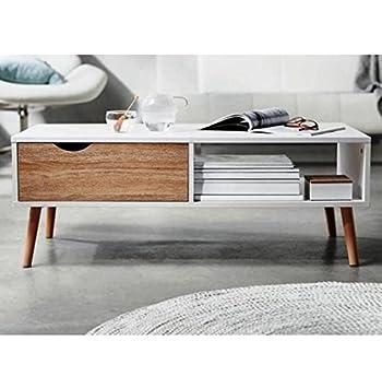 1plus Moderner Design Couchtisch Mit Zeitungsablage Und Schublade
