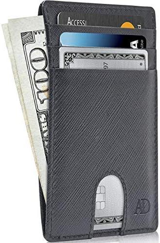 Slim Minimalist Wallets Men Women