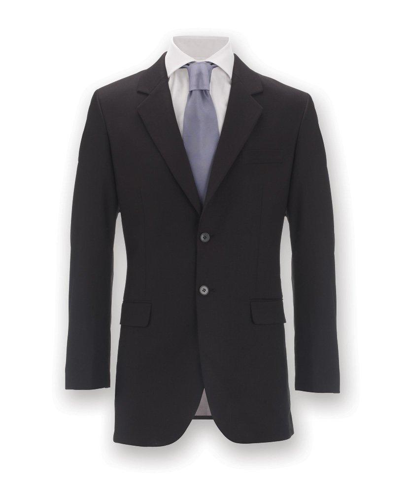 77/% Polyester//21/% Viscose//2/% Elastane Alexandra Icona STC-NM3BK-50R Mens Slim Fit Jacket Black Size: 50 Plain Regular