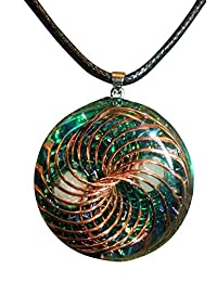 Green Orgone Vortex Pendant
