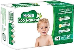 Huggies Eco Natural Pañales Ecológicos para Bebé, Etapa 4, 40 Piezas