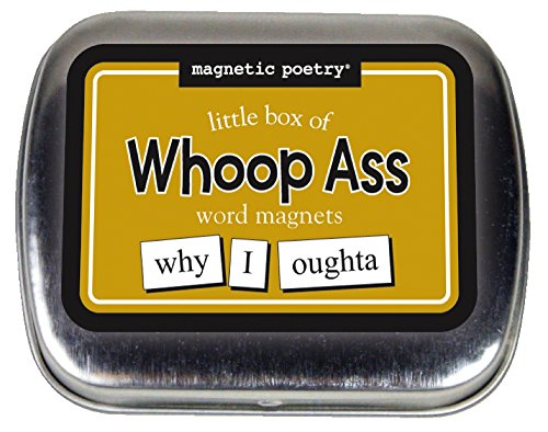 Magnetic Poetry - Little Box of Whoop Ass Kit - Words for Refrigerator - Write Poems and Letters on the Fridge - Made in the USA