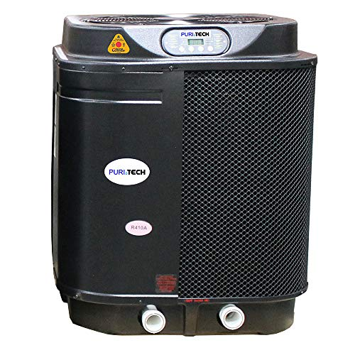 Puri Tech Quiet Heat 127,000BTU Swimming Pool Heat Pump up to 35,000 Gallons with Savings Optimizer and QZ Quiet Technology for Quiet Operation Simple and Easy