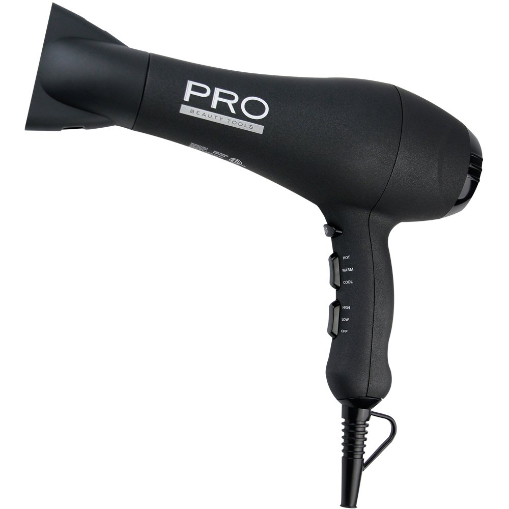 Pro Beauty Tools Professional 1875W Ionic AC Motor Hair Dryer