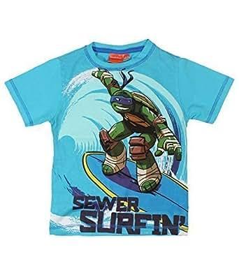 De las Tortugas Ninja de manga corta para T-camiseta de ...