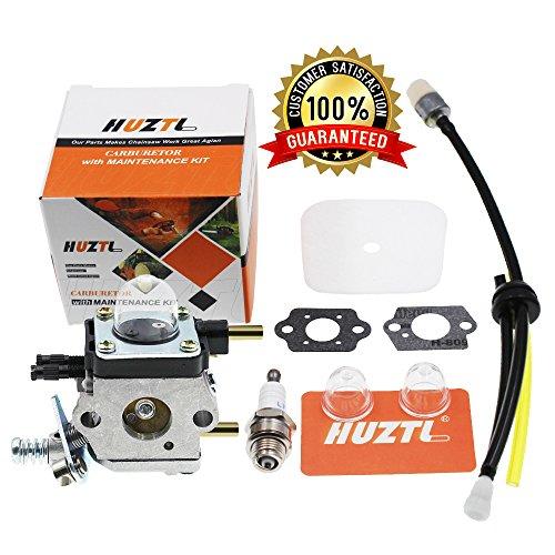 HUZTL C1U-K54A Carburetor Repower Kit Air Fuel Filter Gasket for 2 Cycle Mantis 7222 7222E 7222M 7225 7230 7234 7240 7920 7924 Tiller Cultivator Echo (Mantis Cultivator)