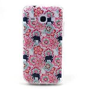 GX patrón elefante flor roja alivio TPU caso de la contraportada para Samsung tendencia galaxia 3 g3502