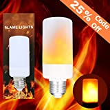 LED Flame Effect Bulb, KINGSO 3 Modes E26 Fire Flickering Simulation Atmosphere Decorative Lamp for Home Bars Restaurant Kitchen Dining Room Decor