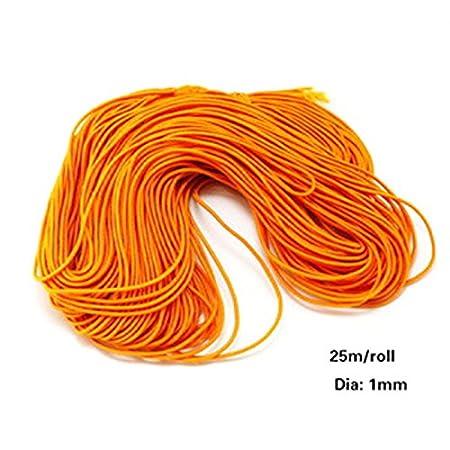 accessori per gioielli bianco Taglia libera Filo elastico fai da te da 1 mm per perline di tessuto per creare braccialetti elastici