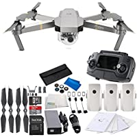 DJI Mavic Pro Platinum Collapsible Quadcopter Drone Ultimate Videographer Bundle
