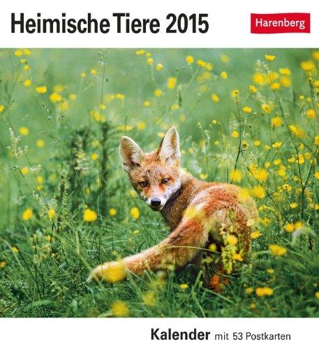 Heimische Tiere Postkartenkalender 2015: Kalender mit 53 Postkarten