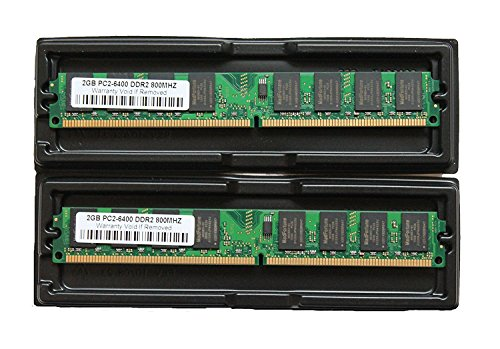 MemoryTek 4GB (2x 2GB) DDR2 PC2-6300 PC2-6400 800Mhz 240 Pin DIMM (Desktop Memory) 4 GB (Speed Ddr2 Ram)