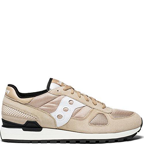 Saucony Originals Men's Shadow Original Running Shoe, Tan/White, 11 Medium US Tan Mens Sneakers
