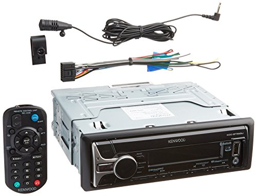 kenwood KDCBT565U CD Single DIN in-Dash Bluetooth Car Stereo Receiver (Kenwood Cd Player Remote)