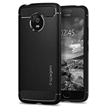 Moto G5 Case, Spigen Rugged Armor - Resilient Shock Absorption and Carbon Fiber Design for Motorola G5 (2017) - Black
