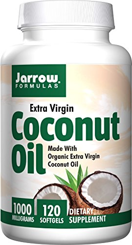 Jarrow Formulas Coconut Oil 100% Organic, Extra Virgin, Softgels 1000 MG 120 (Formulas Organic Coconut Oil)